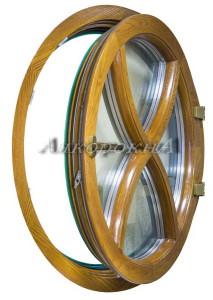 круглое деревянное евроокно дизайн