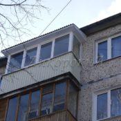 крыша на балкон из профлиста в СПб фото