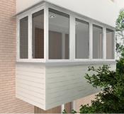 картинка остекленение балконов