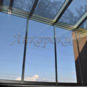 стеклянная крыша на балконе фото в СПб