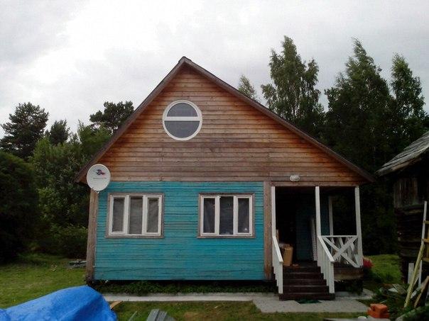 фото дома с круглым окном пластиковым