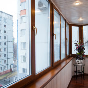 внутренняя обшивка лоджии балкона питер