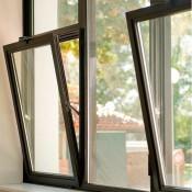 темные алюминиевые окна питер