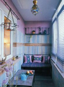 стильный уютный балкон