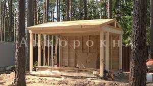 строительство каркаса под беседку в Ленобласти