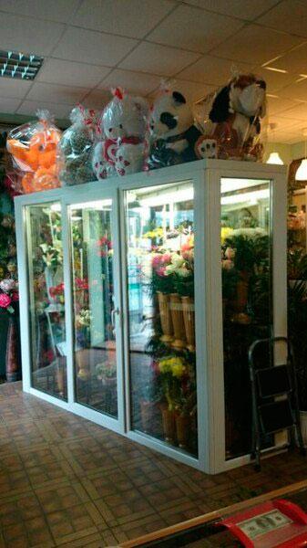 изготовленные на заказ стеклянные цветочные шкафы спб