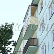 остекление балкона - установка окон и монтаж крыши