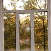 трехстворчатые Т-образные окна с фрамугой от завода в спб
