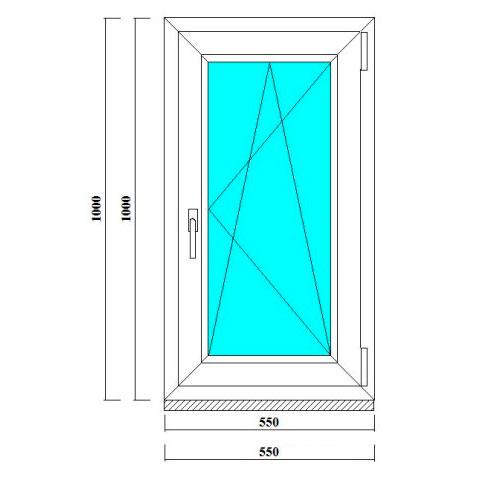 одностворчатое окно на дачу 1000*550 мм в ленобласти