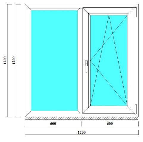 металлопластиковое окно 120 на 120 в СПб за 2 дня