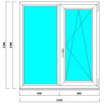 ПВХ окно на дачу 1300*1200 мм