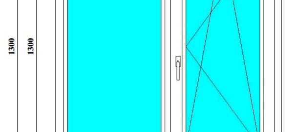 металлопластиковые окна 130*120 см