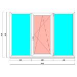 Окно пвх 2040 на 1420 мм