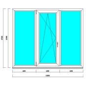 ПВХ окно 1500х1800 мм в СПб