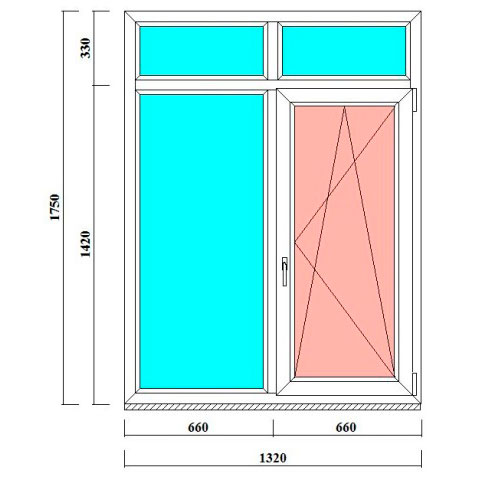 двустворчатые ПВХ окна 1750 на 1320 мм - продажа и монтаж в Ленобласти
