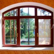 арочное трехстворчатое окно 2100*1500 мм в спб