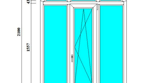 арочные окна-трапеции 2100 на 1500 мм в СПб