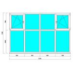 Пластиковые окна на лоджию 2100*3200 мм
