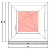 одностворчатое пвх окна 500х500 мм в ленобласти и питере