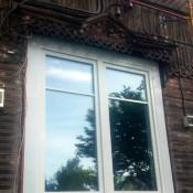 двухстворчатый стеклопакет в деревянный дом