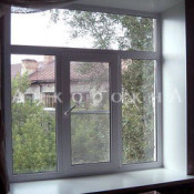 трехстворчатое окно 1800*1950 мм с фрамугой
