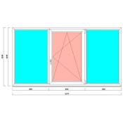 трехстворчатое окно в корабль 1430 на 2670 мм