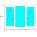 Пластиковое окно 1500х2100 мм