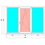 ПВХ окно в хрущевку размером 1500 на 2100 мм