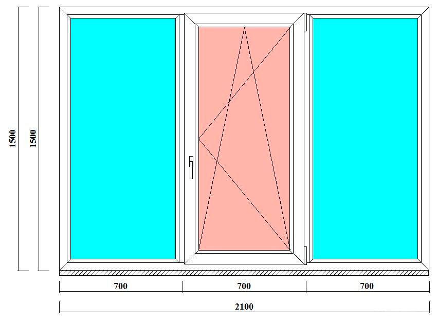 Пластиковое окно 1500х2100 мм в Питере