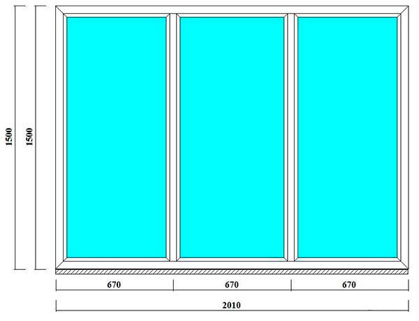 пвх окно 150 на 210 см - продажа и монтаж в СПб