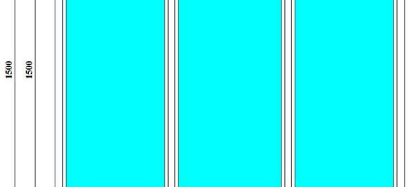 трехстворчатое глухое окно