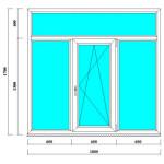 Пластиковое окно 1700х1800 мм