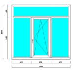 ПВХ окно 1800*1950 мм в панельные и кирпичные дома