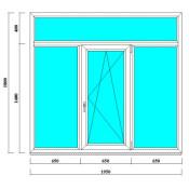 окно 180 на 195 см с фрамугой