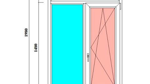 Т-образное окно в старый фонд 1190*1980 мм