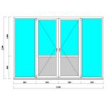 Окна и двери на лоджию 2200*3200 мм