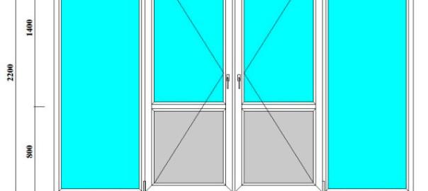 окна и двери для лоджий и веранд 2200 на 3200 мм
