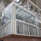 стеклянные панорамные крыши на балконы и лоджии - фото