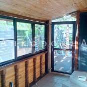 алюминиевые двери и окна на веранду в Ленобласти