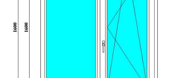 пластиковое окно 1600*1300 мм в СПб
