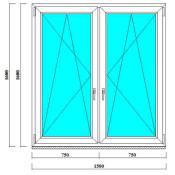 пвх окно 1600 на 1500 мм в Спб