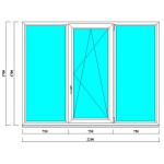 ПВХ окно 1700х2250 мм в кирпичные дома
