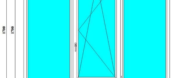 пластиковые окна 170 на 225 см