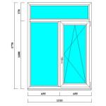 Пластиковое окно ПВХ 1770х1310 мм