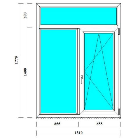 пластиковые и металлопластиковые окна размером 1770*1310 мм
