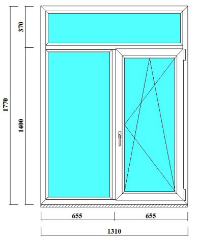 пвх окно 1170 на 1310 мм в СПб