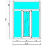 Трехстворчатое ПВХ окно 1850*1350 мм с фрамугой