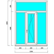 окно пластиковое 1350 на 1850 мм в спб