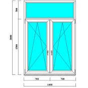 двустворчатое окно с фрамугой в сталинку, старый фонд в Спб