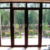 фото панорамной пвх двери на балкон